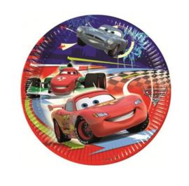 Cars bordjes 8 stuks 20cm