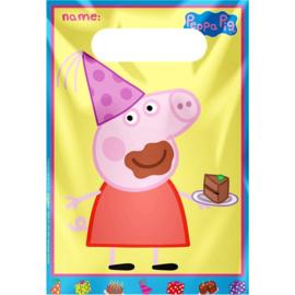 Peppa Pig feestzakjes 8 stuks