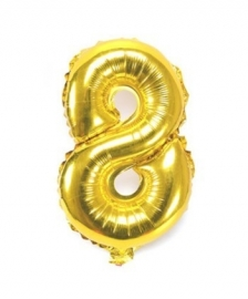 Folie ballon verjaardag 8 jaar