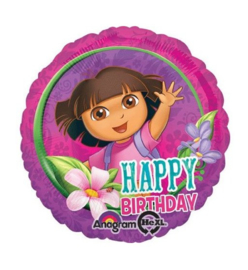 Dora folie ballon Happy Birthday 45cm