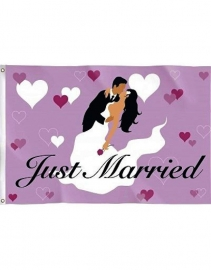 Vlag Just Married 90x60 cm