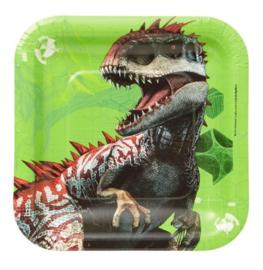 Jurassic World gebaksbordjes 8 stuks 18cm