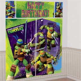 Ninja Turtles muurdecoratie verjaardag