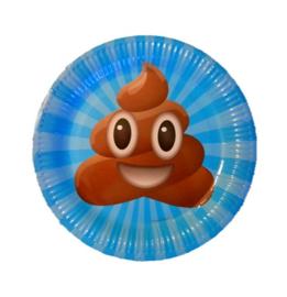 Emoji poop borden 9 stuks