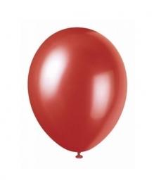 Ballonnen rood metallic 8 stuks