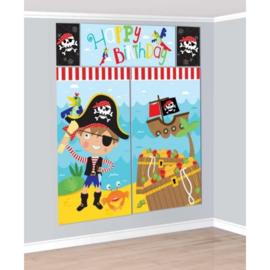 Piraten versiering muur 5-delig
