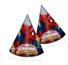 Spiderman feesthoedjes 6 stuks