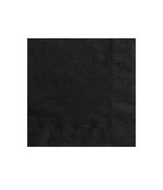 Servetten zwart 20 stuks 33x33cm