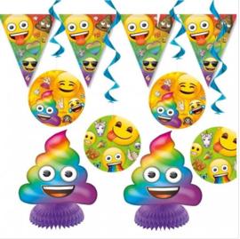 Emoji feestpakket slinger hangdeco tafelversiering