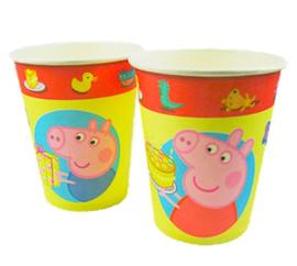 Peppa Pig bekers 8 stuks 250ml