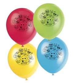 Emoji ballonnen 8 stuks