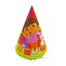 Dora feesthoedjes 8 stuks