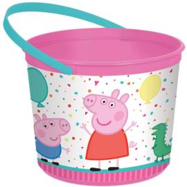 Peppa Pig emmer plastic snoep cadeaus