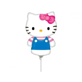 Hello Kitty folie ballon op stok 37cm