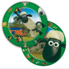 Shaun the sheep borden 8 stuks 23cm