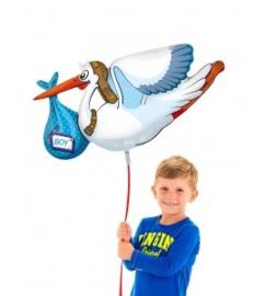 Folieballon ooievaar geboorte jongen
