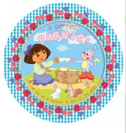 Dora borden 8 stuks 23cm