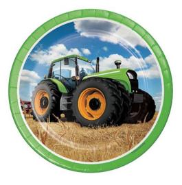 Boerderij tractor borden 8 stuks 23cm