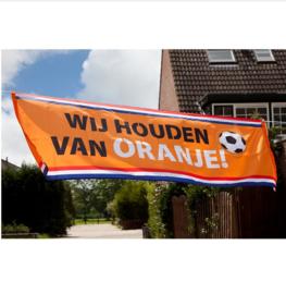 Wij houden van oranje banner 220x74cm