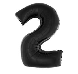 Folie ballon zwart twee 1m