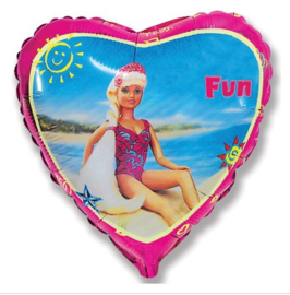 Barbie folie ballon 43cm