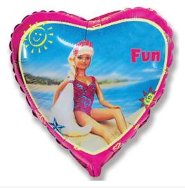 Barbie folie ballon 43cm