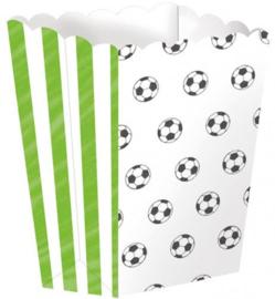 Voetbal snoepbakjes 4 stuks