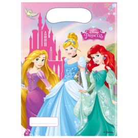 Prinsessen Disney uitdeelzakjes 6 stuks