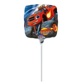 Blaze en de monsterwielen folie ballon op stok