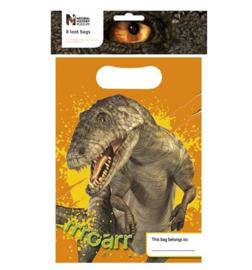 Dinosaurus feestzakjes 8 stuks