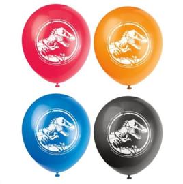 Jurassic World ballonnen 8 stuks