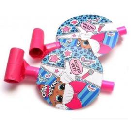 LOL Surprise roltongen roze 6 stuks