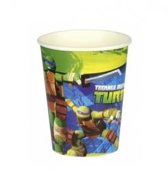 Ninja Turtles bekers 8 stuks