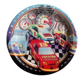 Raceauto bordjes 8 stuks 18cm