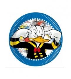 Donald Duck borden 8 stuks 20cm