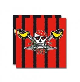 Piraten servetten 20 stuks/3 lagen