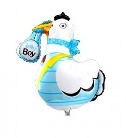Baby folie ballon ooievaar jongen