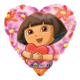 Dora folie ballon hartvormig 45cm