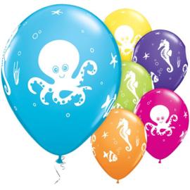 Zeefiguren ballonnen 6 stuks