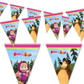 Masha en de beer vlaggenlijn 2,3m