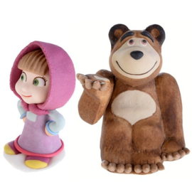 Masha en de beer eetbare taartfiguren