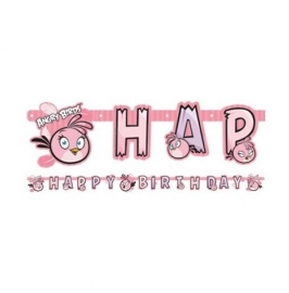 Letterslinger Angry Birds Pink 180 x 15