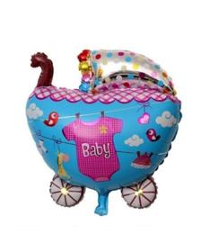 Baby folieballon kinderwagen