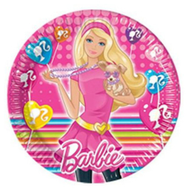 Barbie borden 8 stuks 23cm