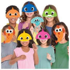 Baby Shark maskers 8 stuks