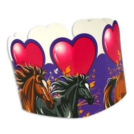 Paarden kroontjes 8 stuks