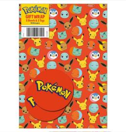 Pokemon kadopapier 2 vellen 70x50cm