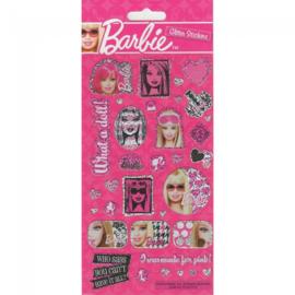 Barbie stickervel glitter 11x24cm