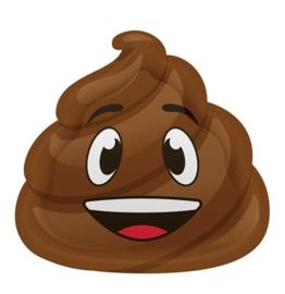 Emoji Poop bordjes 8 stuks 23cm
