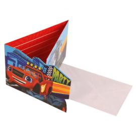 Blaze uitnodigingen met enveloppen 8 stuks